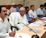 Nitish Kumar during a meeting