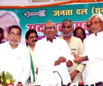Nitish Kumar during a JD(U) programme