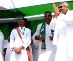 Nitish Kumar during a rally