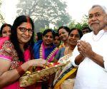 Nitish Kumar during Chhath Puja celebrations