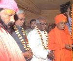 Nitish Kumar during the inauguration of Lord Buddha statue
