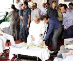 Nitish Kumar inspects Chhath festival