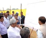 Nitish Kumar inspects an under-construction road