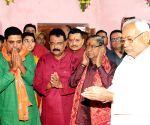 Nitish Kumar performs Chitragupta Puja