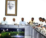 Nitish Kumar at a review meeting