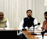 Nitish Kumar during a meeting with his ministers