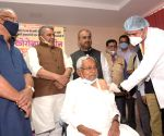 Nitish takes first jab as Bihar launches free vax campaign