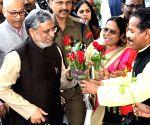 Sushil Kumar Modi's arrives to present 2019-20 Bihar budget