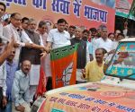 Bihar Dy CM Sushil Kumar flags off relief material for the flood victims