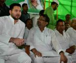 Tejaswi Yadav during a programme