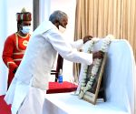 Bihar governor Phagu Chauhan pays tributes to First president of India Dr. Rajendra Prasad on his death anniversary in Patna on Sunday 28th February,2021