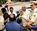 Ram Nath Kovind leaves for Delhi