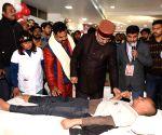 Bihar Health Minister at blood donation camp