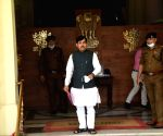 Bihar industry Minister Syed Shahnawaz Hussain arrives at Bihar Assembly