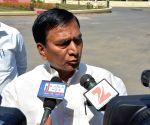 Bihar Law Minister talks to press