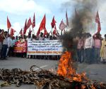Bihar Rajya Nirman Mazdoor Union's demonstration