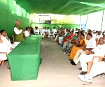 Ram Chandra Purve during RJD's election committee meeting