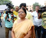 Kumari Manju Verma talks to the media