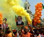 BJP activists took part in rally to attend Indian Prime minister Narendra Modi's  public meeting