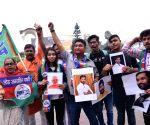 LJP, BJP workers celebrate as NDA leads in Bihar bypolls, LJP leading in Samastipur LS seat