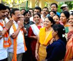 D. V. Sadananda Gowda during an election campaign