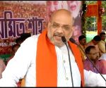 Amit Shah at a public rally in West Bengal