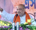 Amit Shah at a public meeting in West Bengal