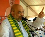 Amit Shah at a public rally in Odisha
