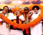 Pathankot (Punjab): 2019 LS polls: Amit Shah, Sunny Deol, Sukhbir Singh Badal's public rall