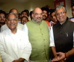 Amit Shah arrives in Patna