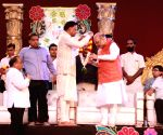 Amit Shah, John Abraham during Dussehra celebrations