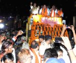 Amit Shah during a roadshow