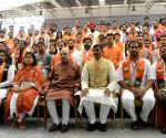 Amit Shah, Poonam Mahajan during BJYM National Executive Meeting