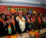 Harsh Vardhan during a party meeting