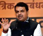 Fadnavis arrives in Goa to meet MLAs, office bearers