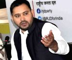 Tejashwi flays Nitish for circular against anti-government social media posts