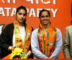 Badminton star Saina Nehwal joins BJP