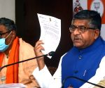 BJP leader and Union cabinet Minister IT,  Law and Justice, Ravi Shankar Prasad interact with media in Kolkata