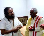 Bandaru Dattatreya meets Sri Sri Ravi Shankar
