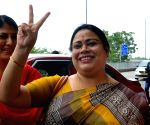 Roopa Ganguly, Dilip Gosh leave for Delhi