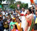 BJP workers block road