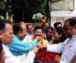 Shyam Jaju celebrates
