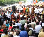 BJP's demonstration against JD-S, Congress alliance