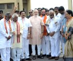 Gujrath Chief Minister Narender Modi arrived Hyderabad