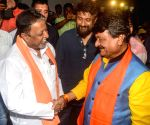 Kailash Vijayvargiya, Mukul Roy during a BJP programme