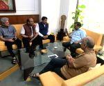 BJP leaders meet Arvind Kejriwal