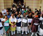 BJP demonstration against black money at Bihar Assembly