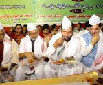 Iftaar party - Ravi Shankar Prasad, Sushil Kumar Modi, Shahnawaz Hussain, Jitan Ram Manjhi