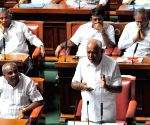 Karnataka floor test - B.S. Yeddyurappa in the state assembly