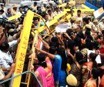 BJP Mahila Morcha demonstration against KC Venugopal